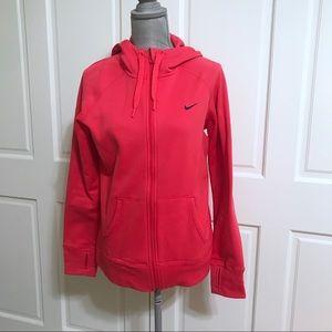 Nike Neon Therma Fit Zip Up Sweatshirt